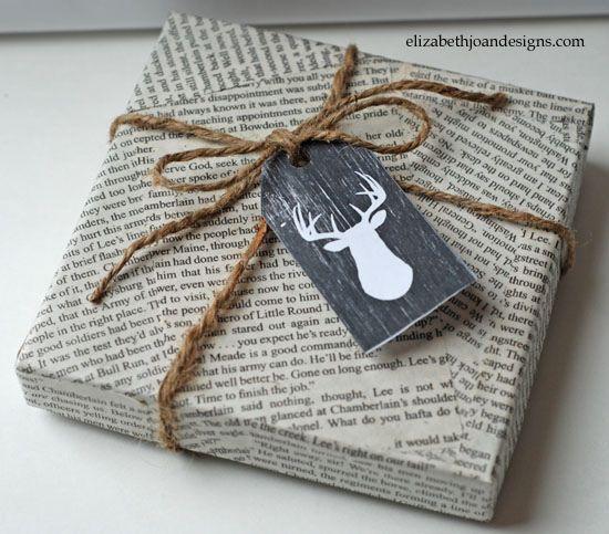 Gift Wrapping Ideas Elizabeth Joan Designs Newspaper Gift Simple Gift Wrapping Gift Wrapping