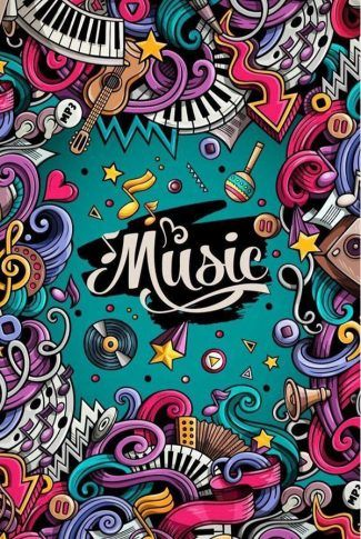 Download Music Graffiti Collage Wallpaper | CellularNews