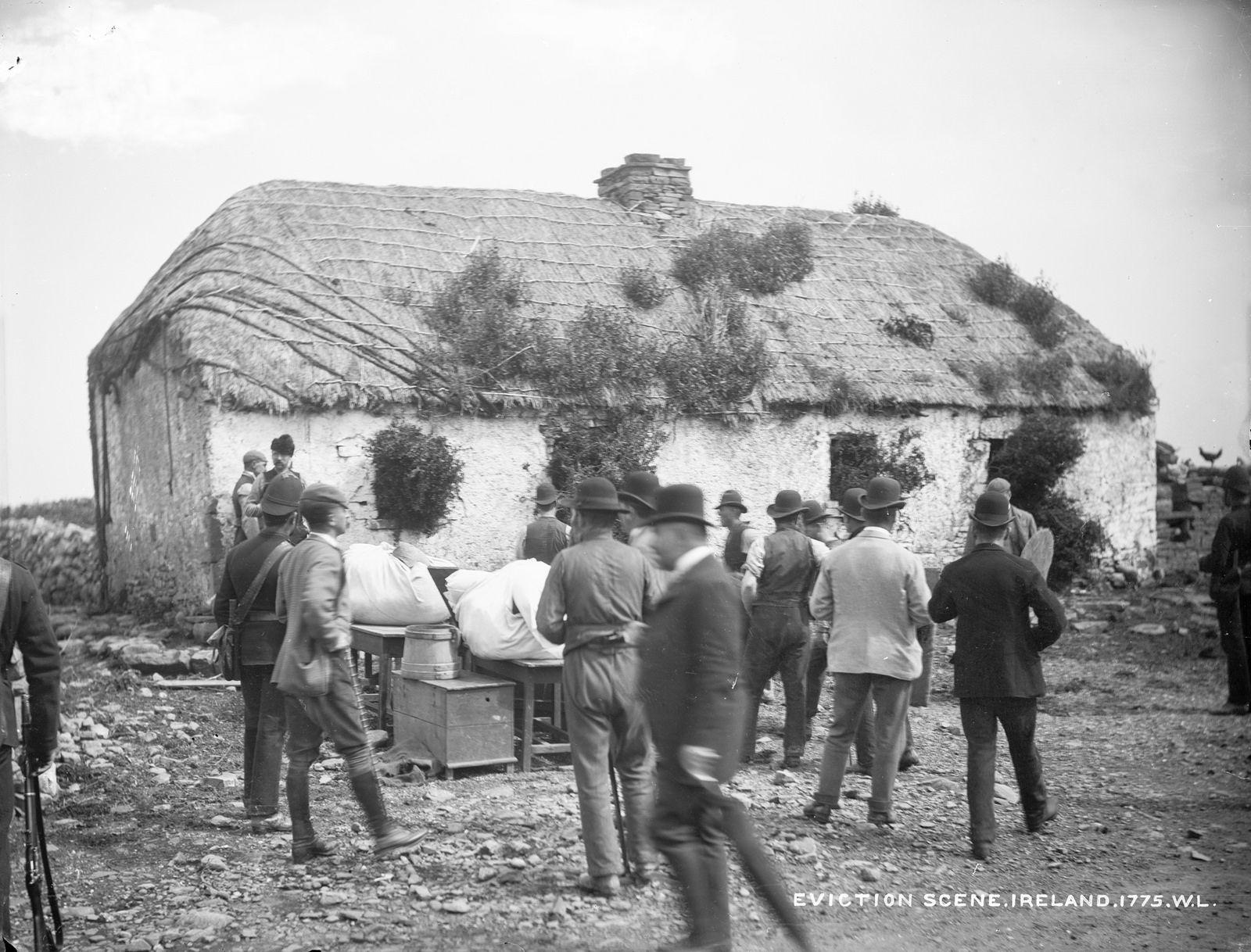Eviction Scene At The House Of John Connell Moyasta Co Clare Ireland History Irish History Images Of Ireland