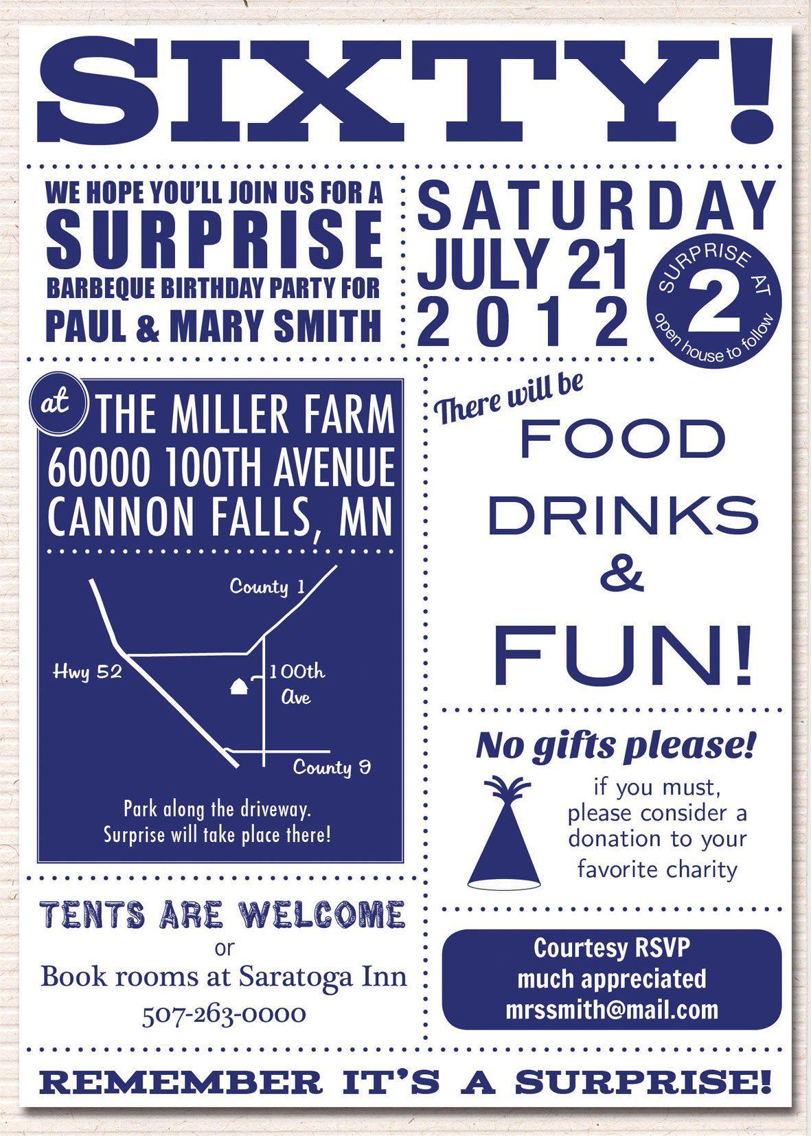 60th birthday invitations printable | birthday invitations template ...