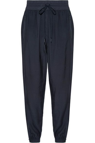 Shell-trimmed Twill Track Pants - Navy DKNY Clearance 2018 Newest WuMRl2
