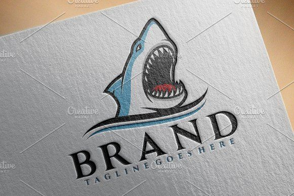 Shark Logo V.3 Templates Logo template suitable for businesses and product names. Easy to edit, change size, color and text by herulogo