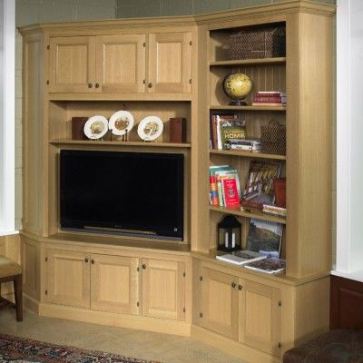 corner built in entertainment center corner cabinet with inset recessed doors book case. Black Bedroom Furniture Sets. Home Design Ideas