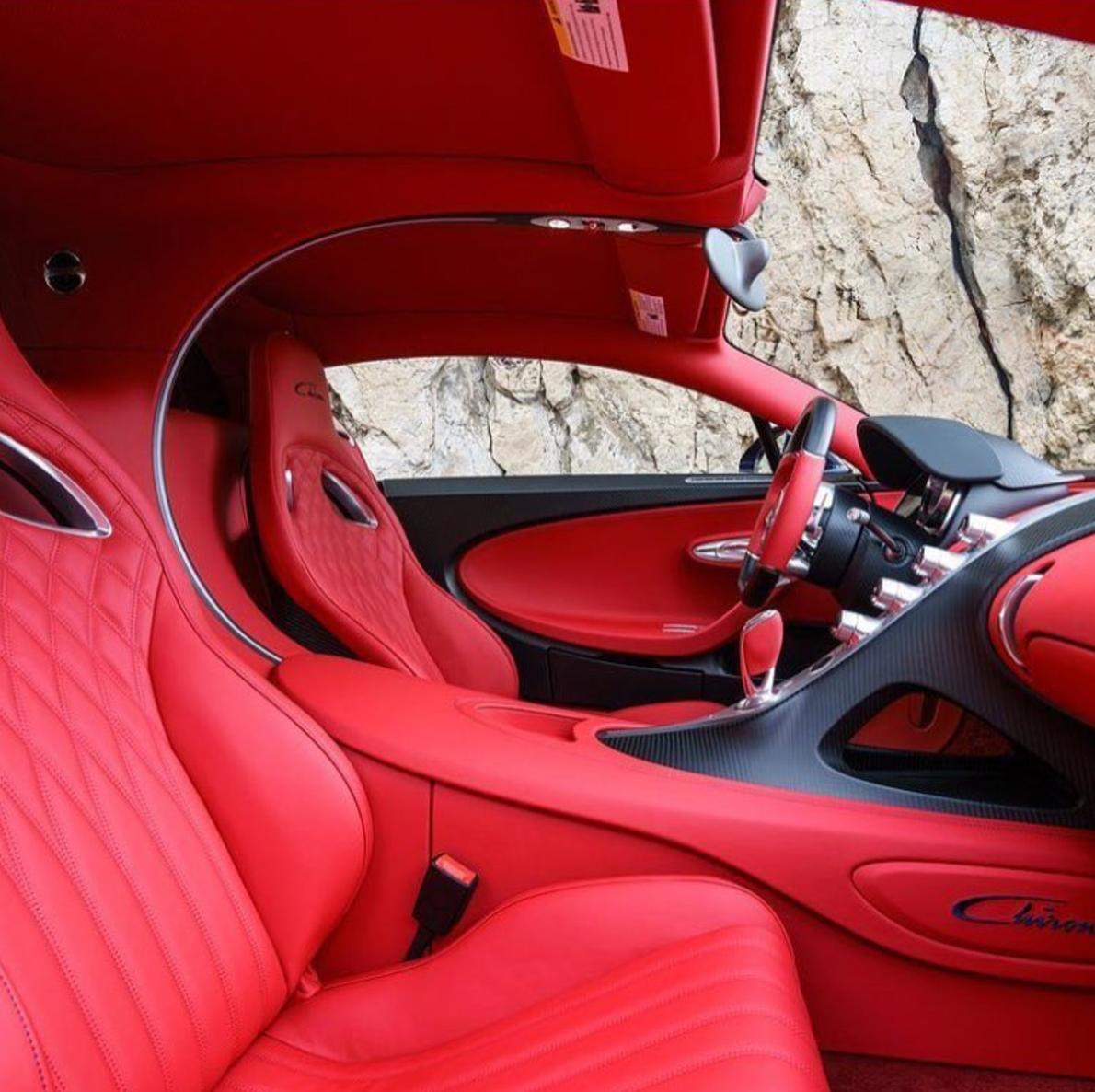 Can You Appreciate The Italian Red Interior Of This Bugatti Chiron