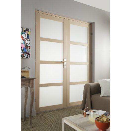 Bloc-porte Nova ARTENS, vitrée, poussant droit, 204 x 146 cm