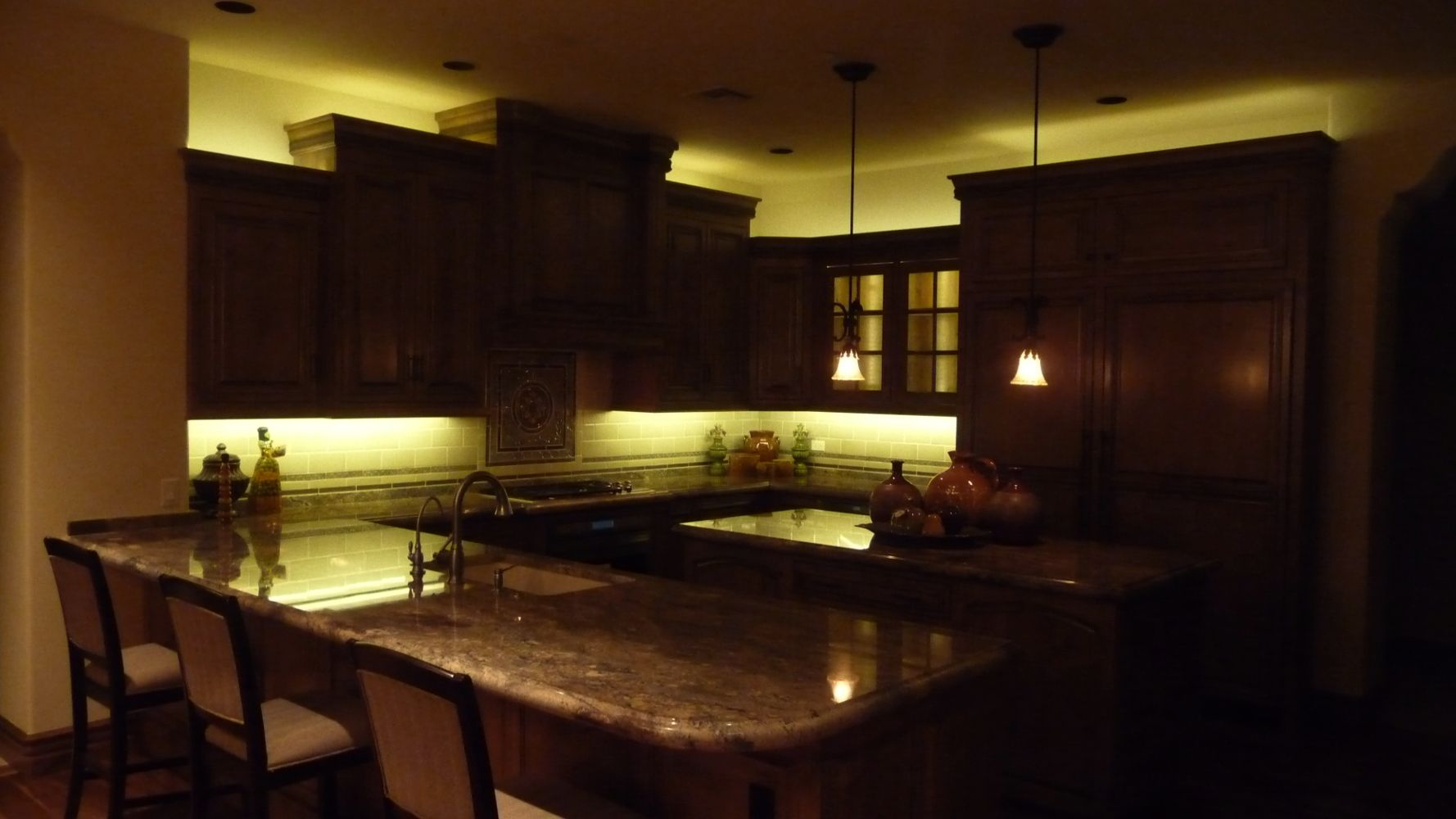 Led Rope Light Kitchen Cabinet With
