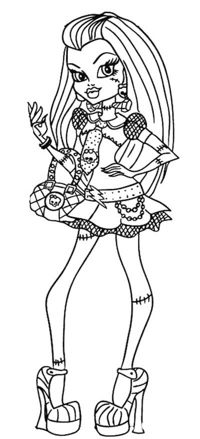 Style Frankie Stein Monster High Coloring Page Coloring Pages