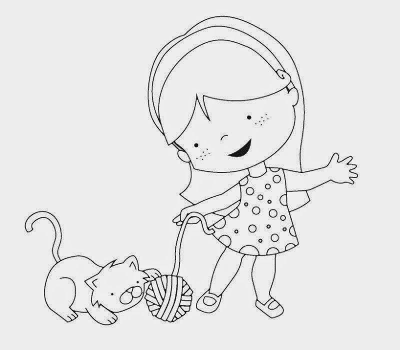 Dibujos Para Colorear Maestra De Infantil