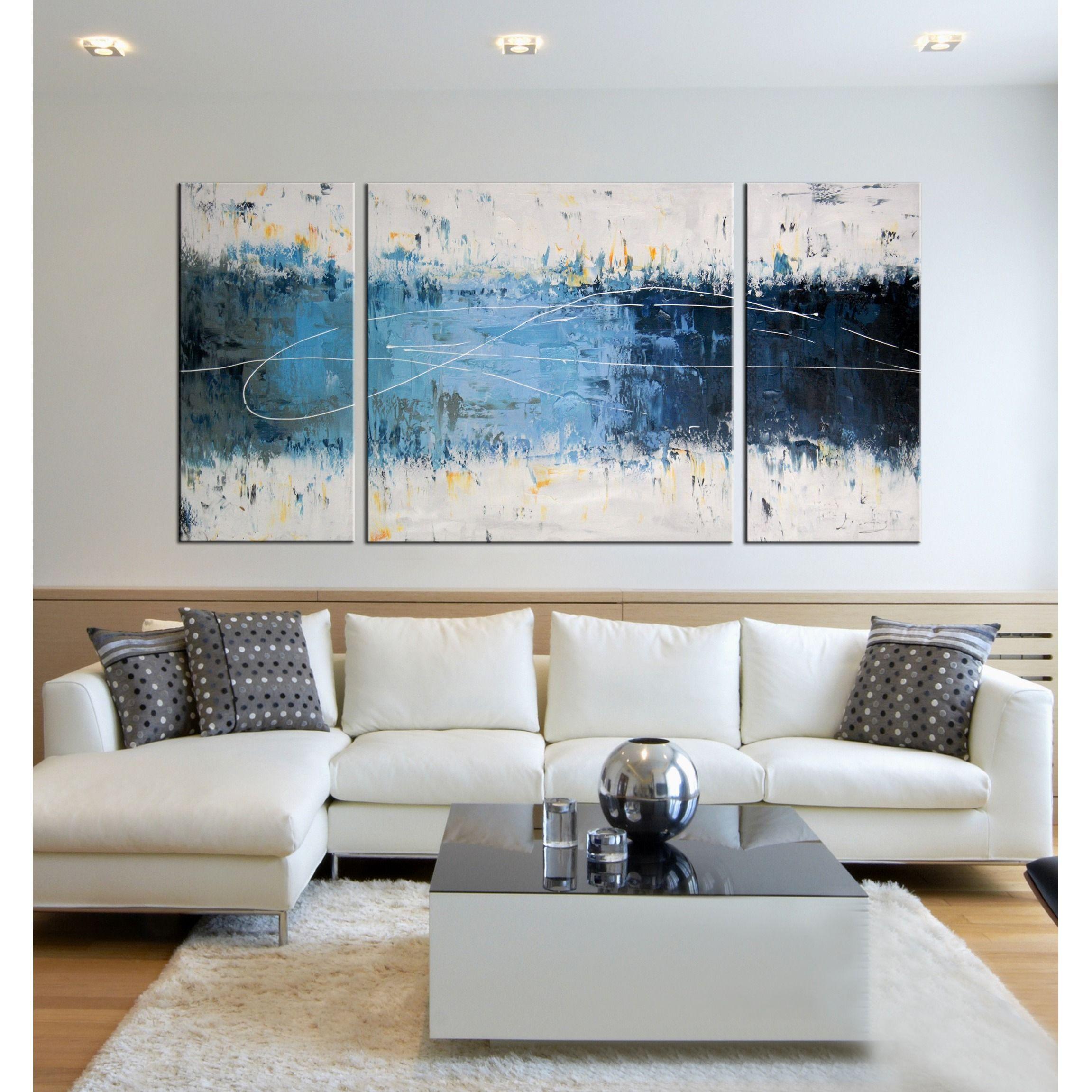 Strick Amp Bolton Hand Painted Canvas Art Set 3 Pieces