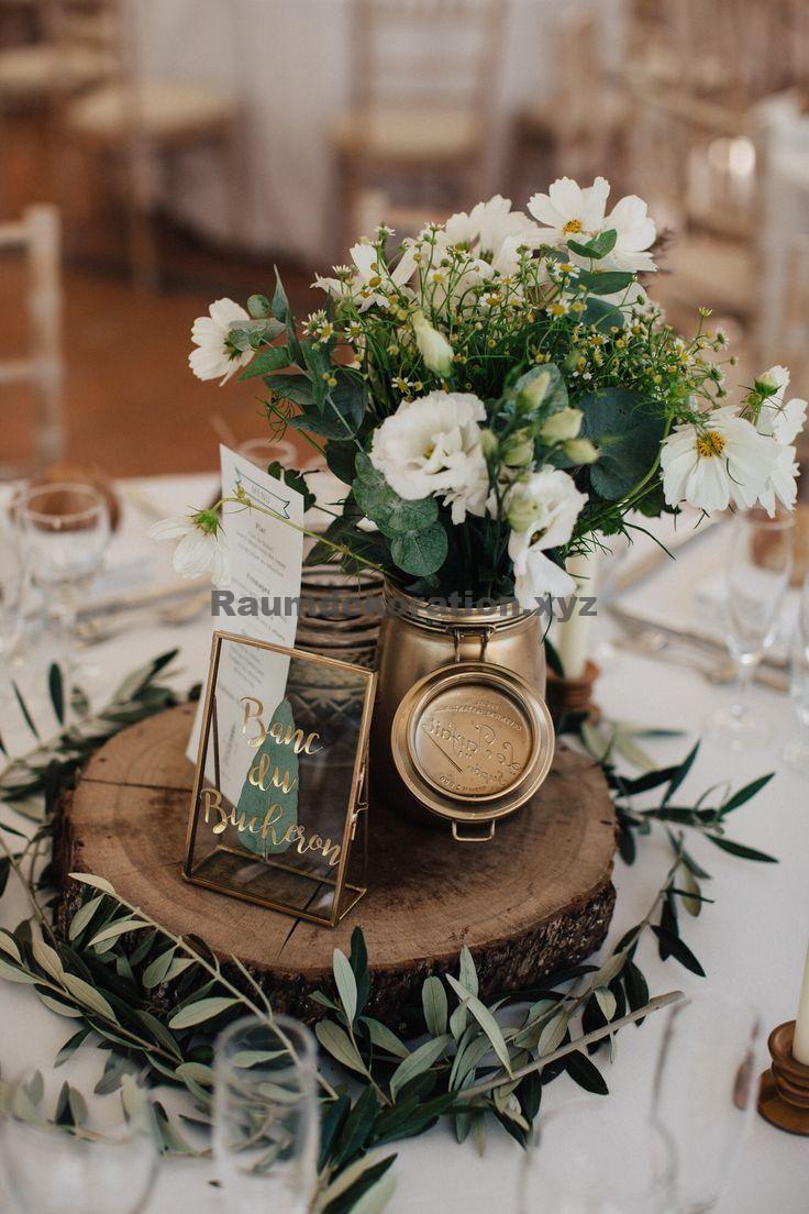 Photo of Hochzeitstischdekoration – N A T E R L L Mittelstück – Blumen Natur Ideen