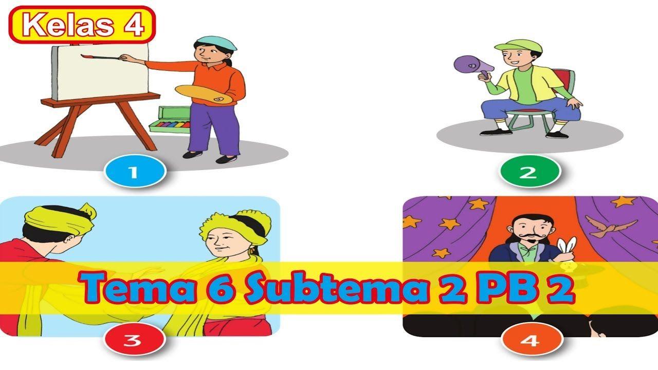K13 Revisi Terbaru Tema 6 Kelas 4 Subtema 2 Hebatnya Cita Citaku Pembela Belajar Kurikulum Aplikasi