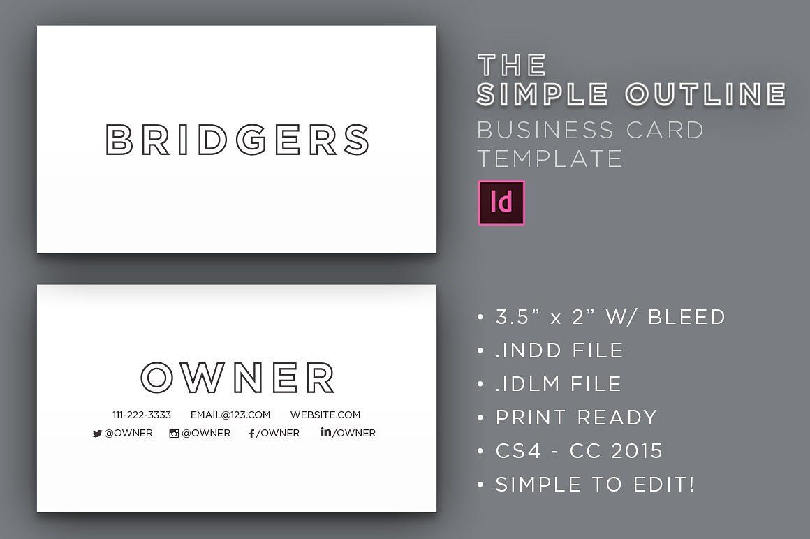 The simple outline business card pinterest business cards the simple outline business card by socalarts on creativemarket colourmoves
