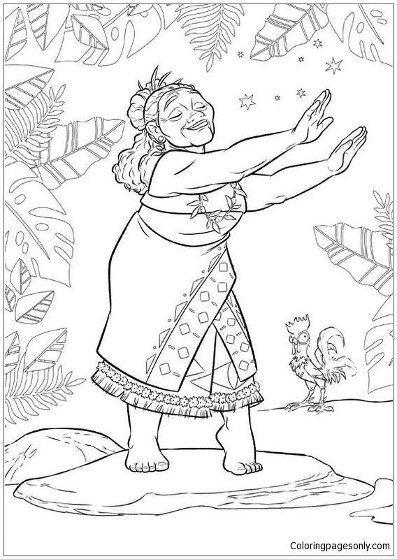 Tala From Moana Disney 2 Coloring Page Moana Coloring Moana Coloring Pages Dance Coloring Pages