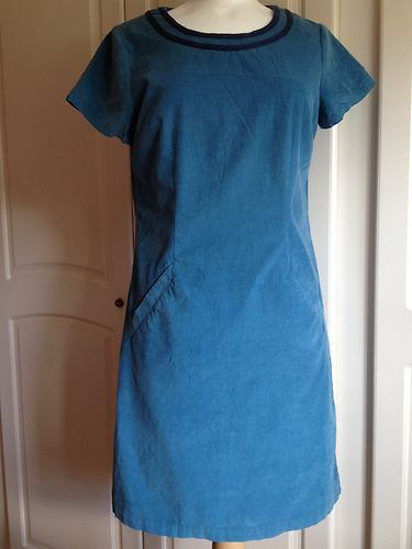 6fd36321a221c Boden Cord Dress Casual Fine Cord Dress Airforce UK 10 R | eBay ...