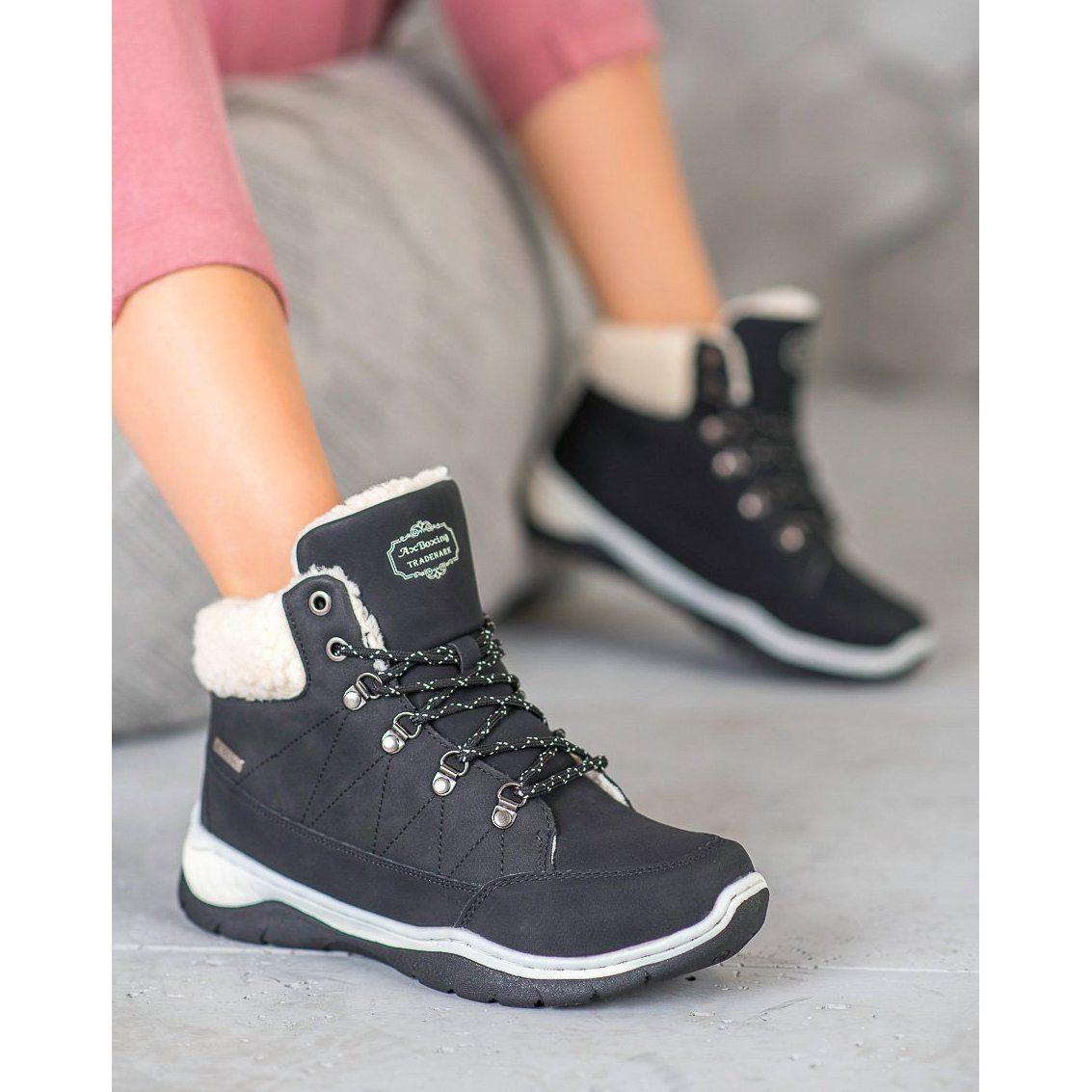 Arrigo Bello Cieple Buty Zimowe Czarne High Top Sneakers Wedge Sneaker Shoes
