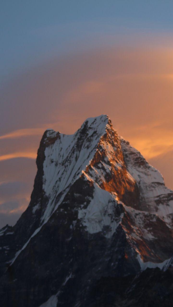 Mountain Cliff Sunset Nature 720x1280 Wallpaper Phone