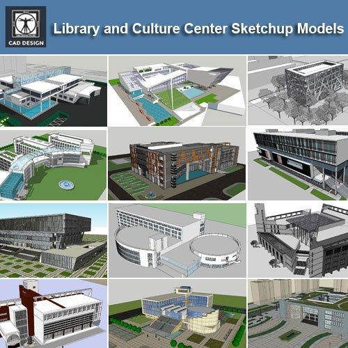 Download 15 Library Sketchup 3D Models】 (Recommanded