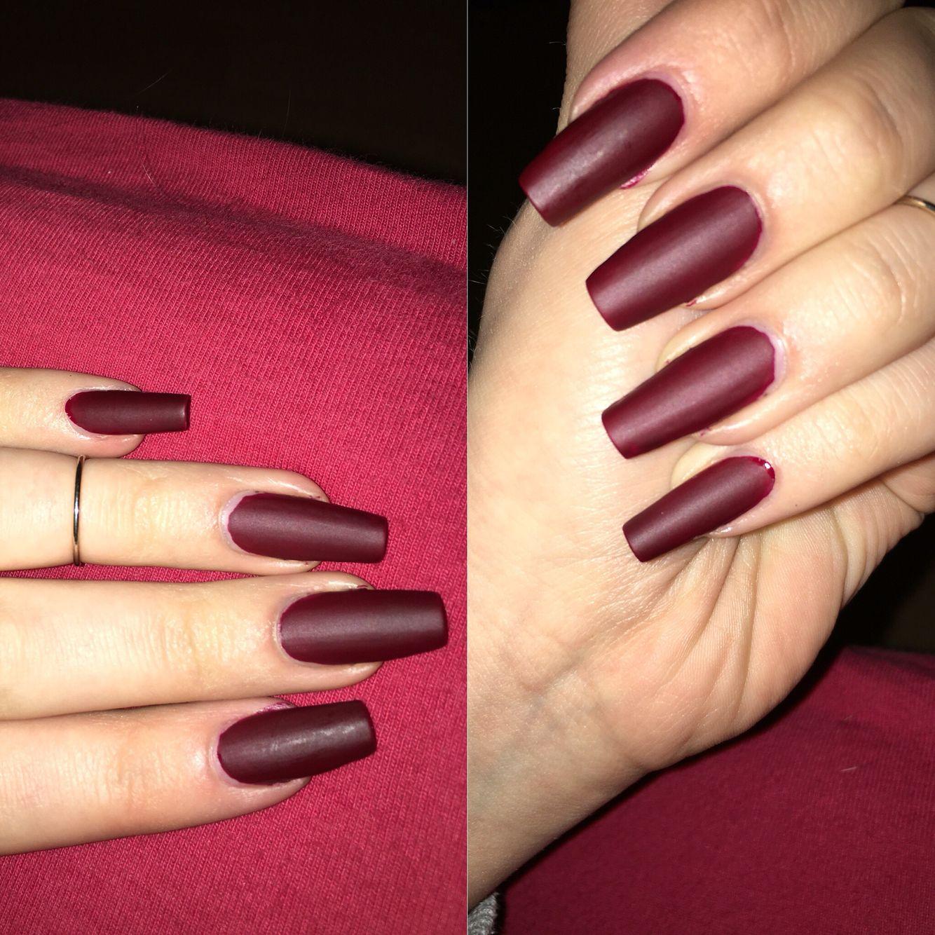 Nails red❤ Nägel dunkelrot ❤ | Nails / Nägel ✨ | Pinterest ...