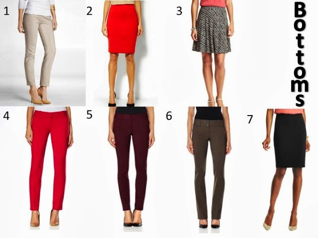 A Little Bit of WoWe : Teacher Wardrobe Staples [Part 2] This picture includes the bottoms from the wardrobe basics list.