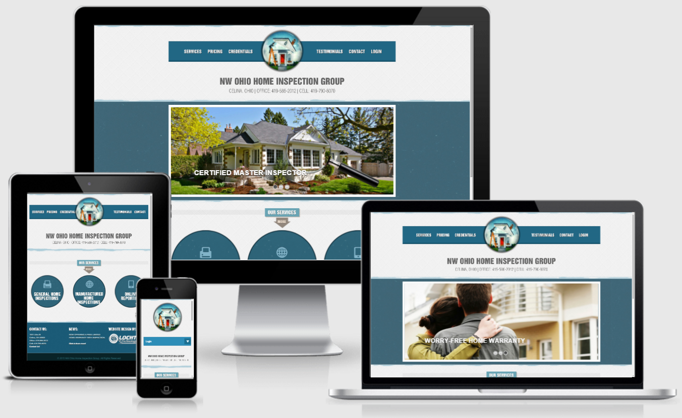 Home Inspection Website Design. Call us with your questions, Dial ...