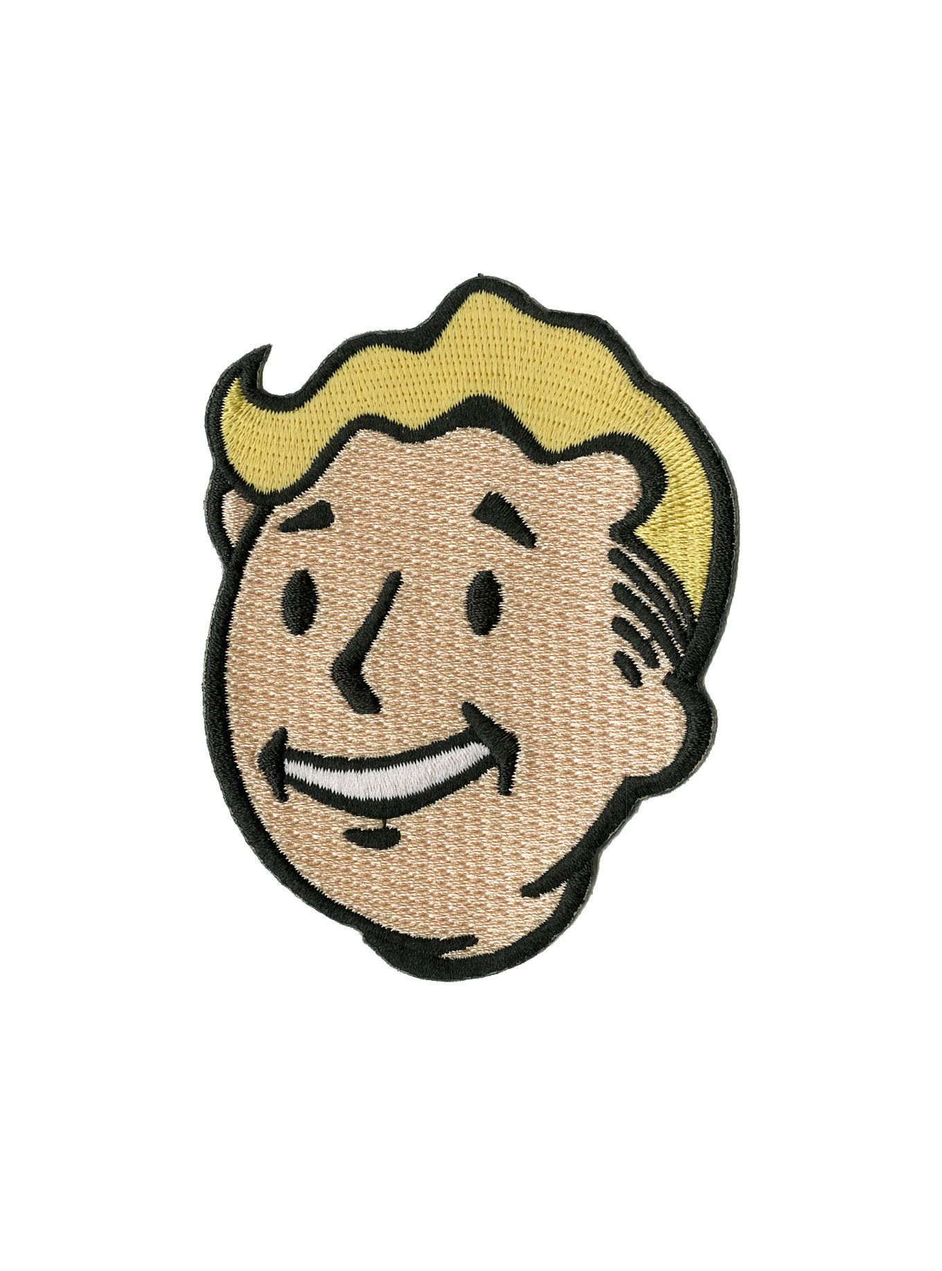 div Iron-on patch from  i Fallout   i featuring Vault Boy s head.    div  div  ul  li style