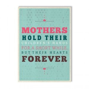 Moeders en hun kinderen.