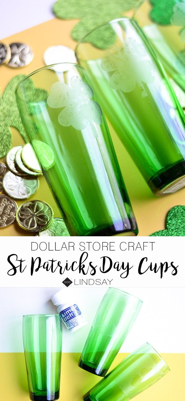 Dollar Store. Craft St. Patrick's Day cups Dollar stores