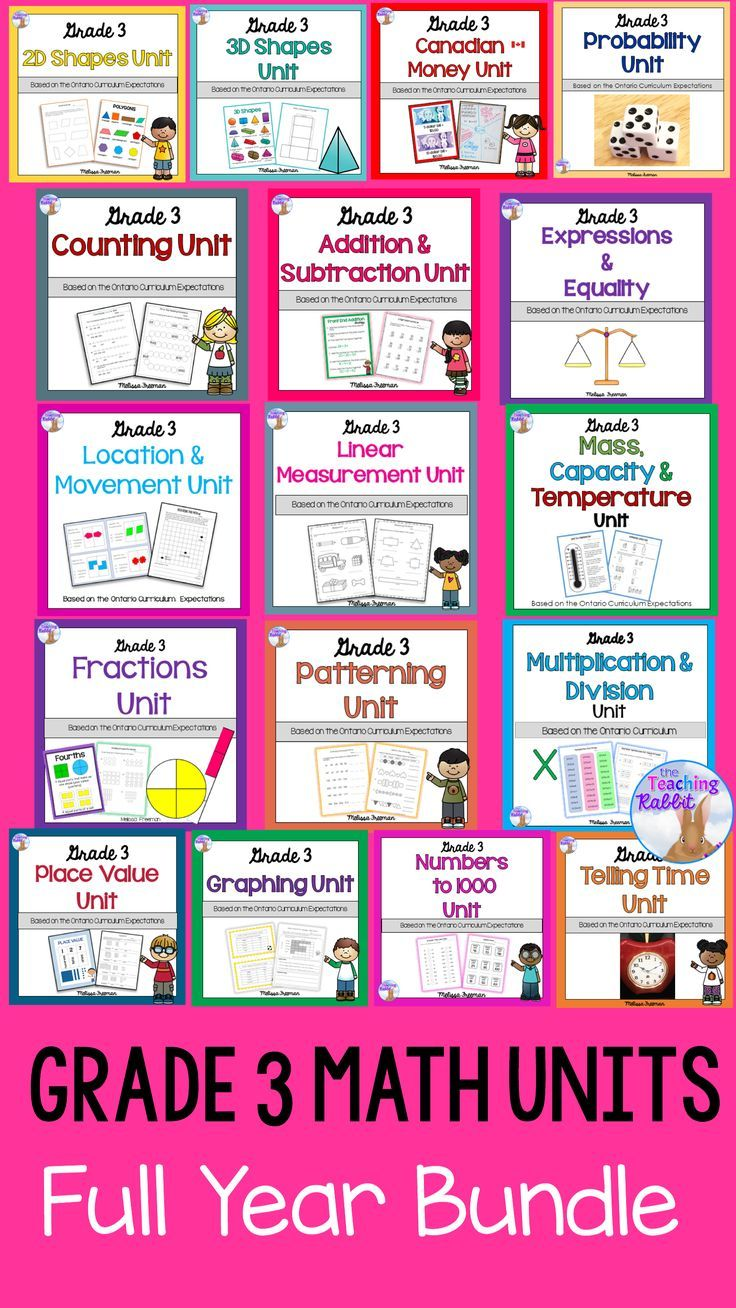 Grade 3 Math Units FULL YEAR BUNDLE Tario Curriculum