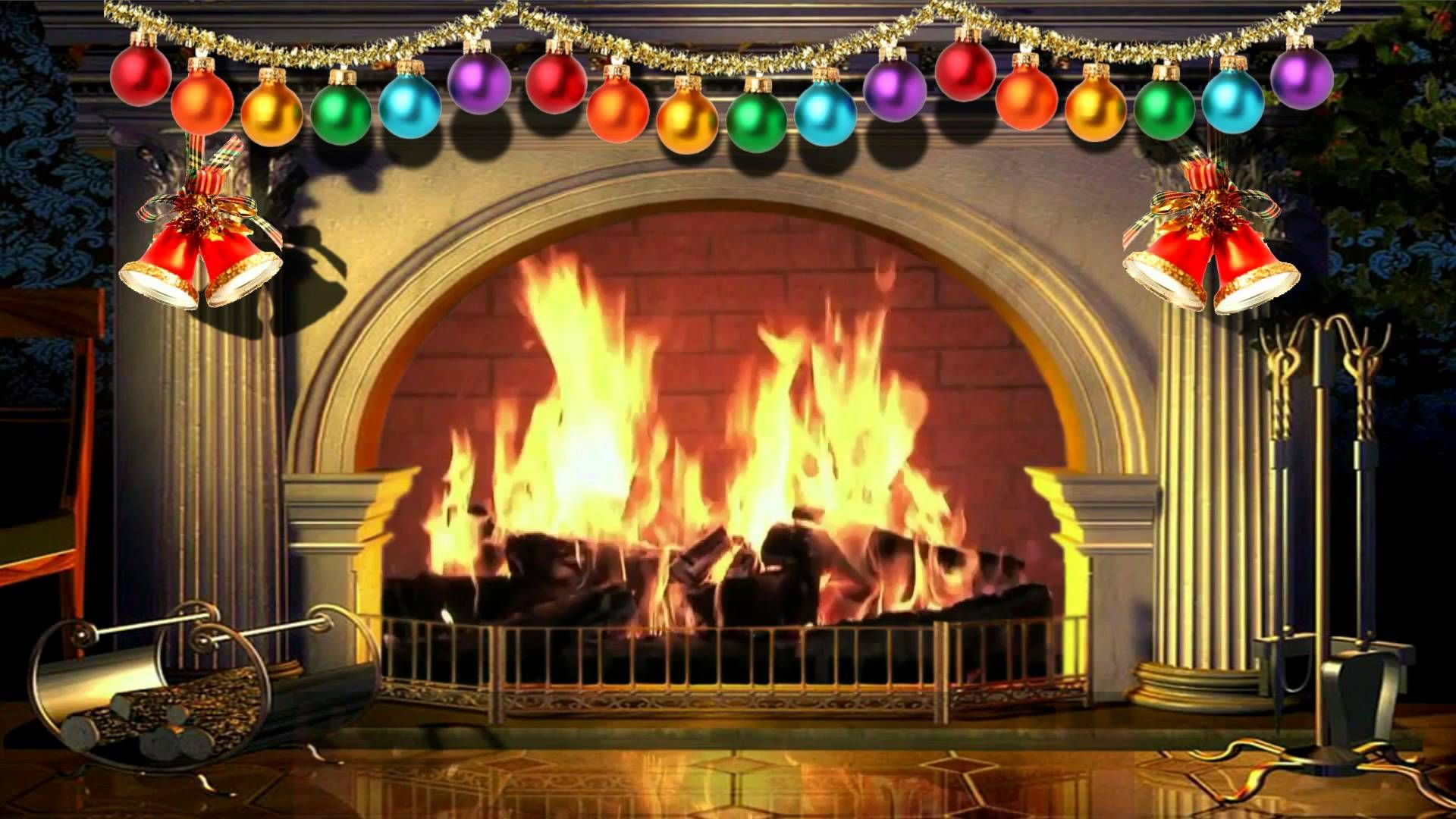 christmas scenes fireplace gif Virtual Christmas