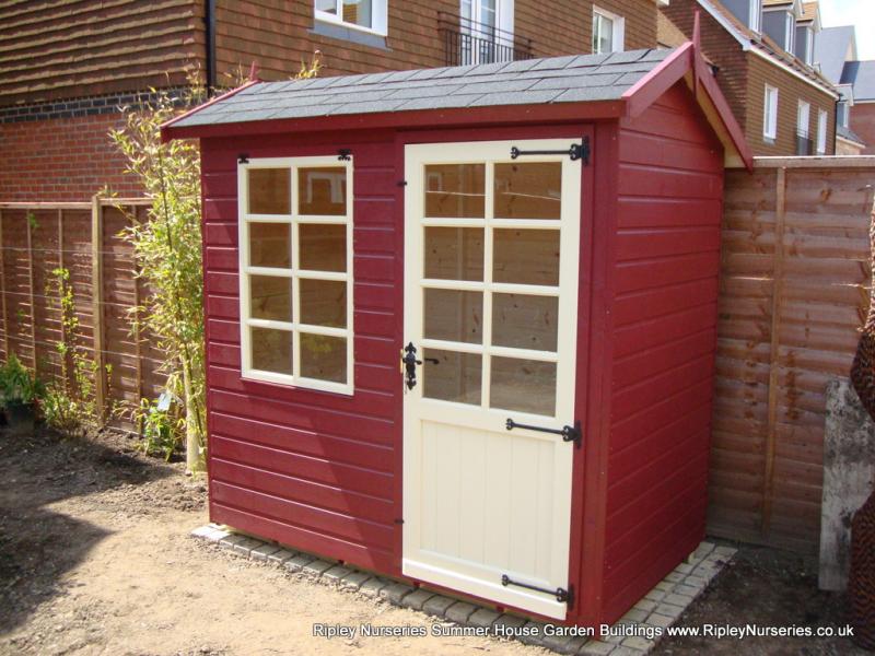 Garden Sheds Ripley abinger summerhouse 7x4, painted finish, black felt tiled roof