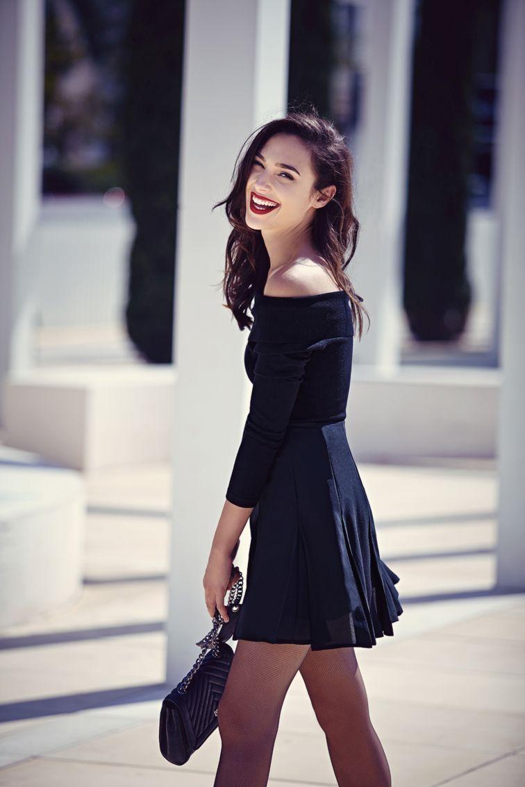 Every girl needs a little black dress: off-the-shoulder long sleeve dress