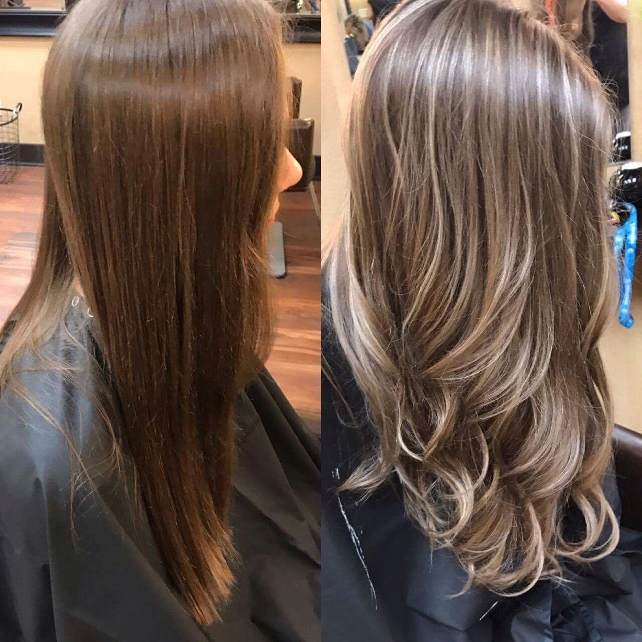 Brown hair with highlights | Hair | Hair, Brown hair with ...