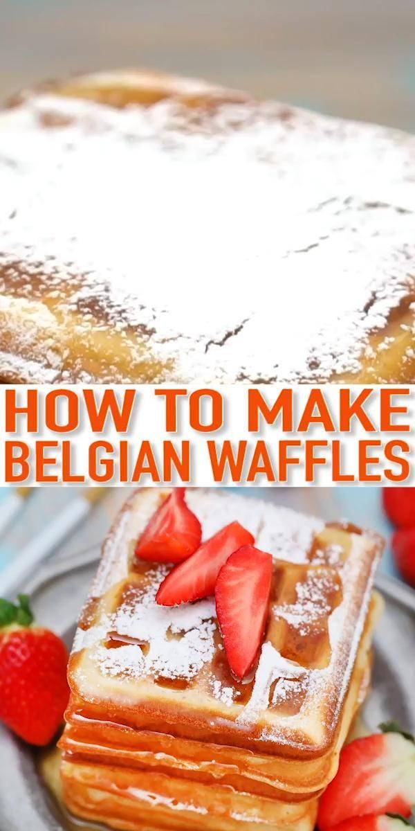 The Best Fluffy Homemade Belgian Waffle Recipe