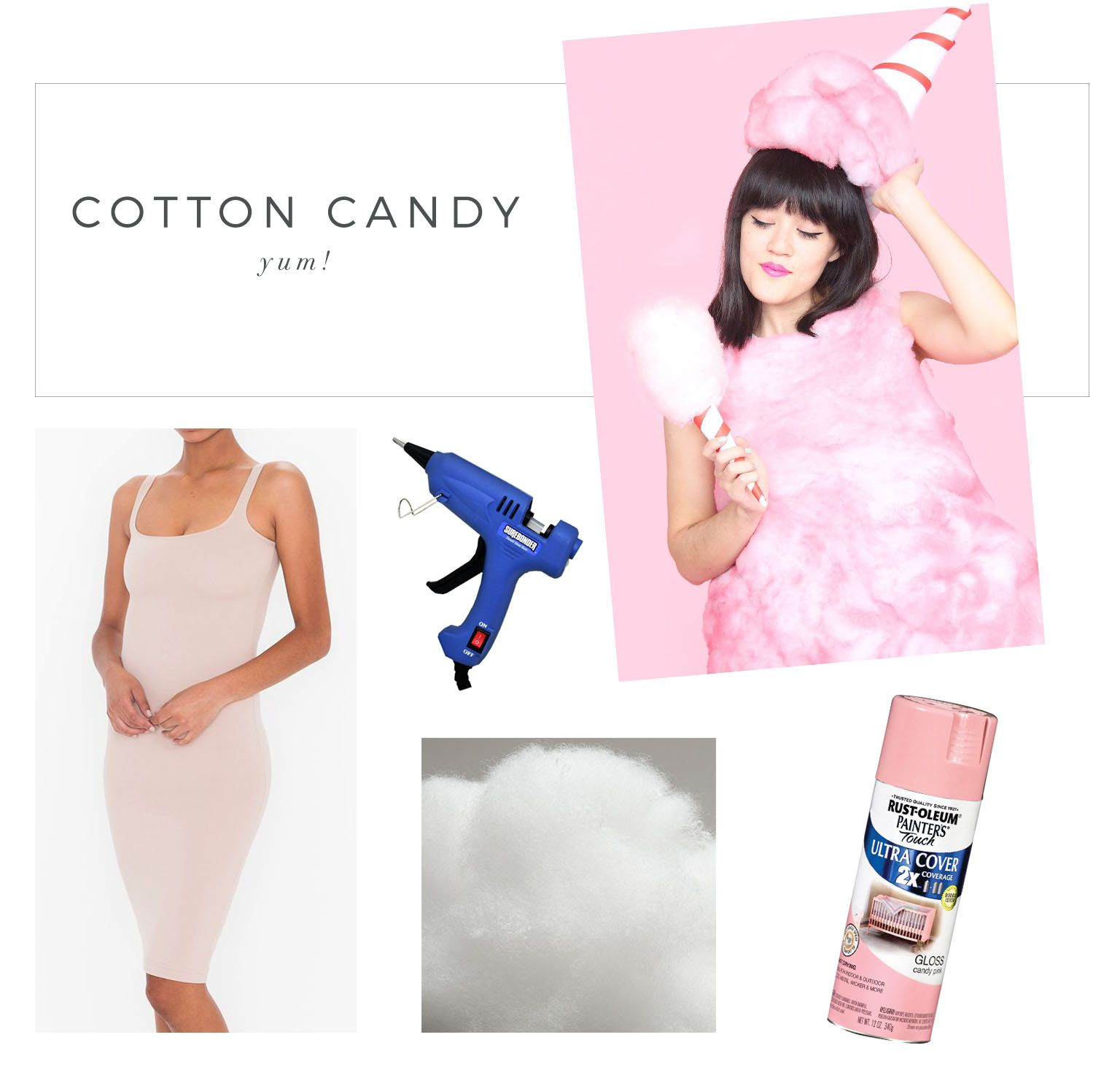 cotton candy costume  sc 1 st  Pinterest & More Semi-DIY Halloween Costume Ideas! | Costumes Halloween ...