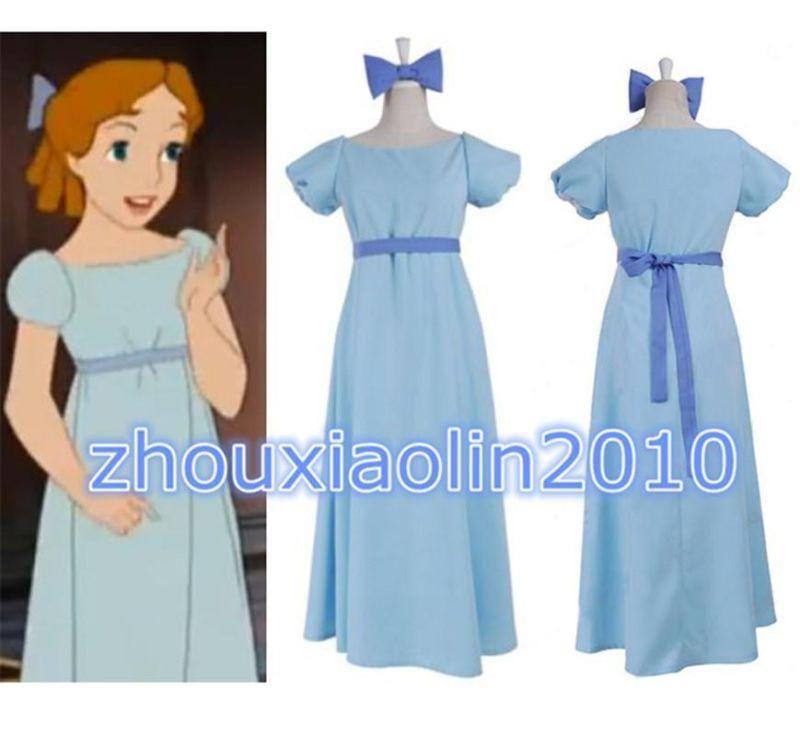7faa3c547f396 Film Peter pan wendy Rachael Cosplay costume party dress graceful ...