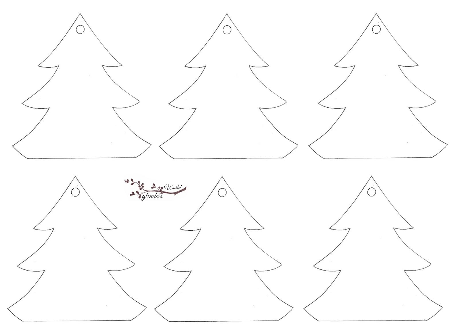 Glenda S World Christmas Shapes Gift Tags Christmas Ornament Template Ornament Template Gift Tags