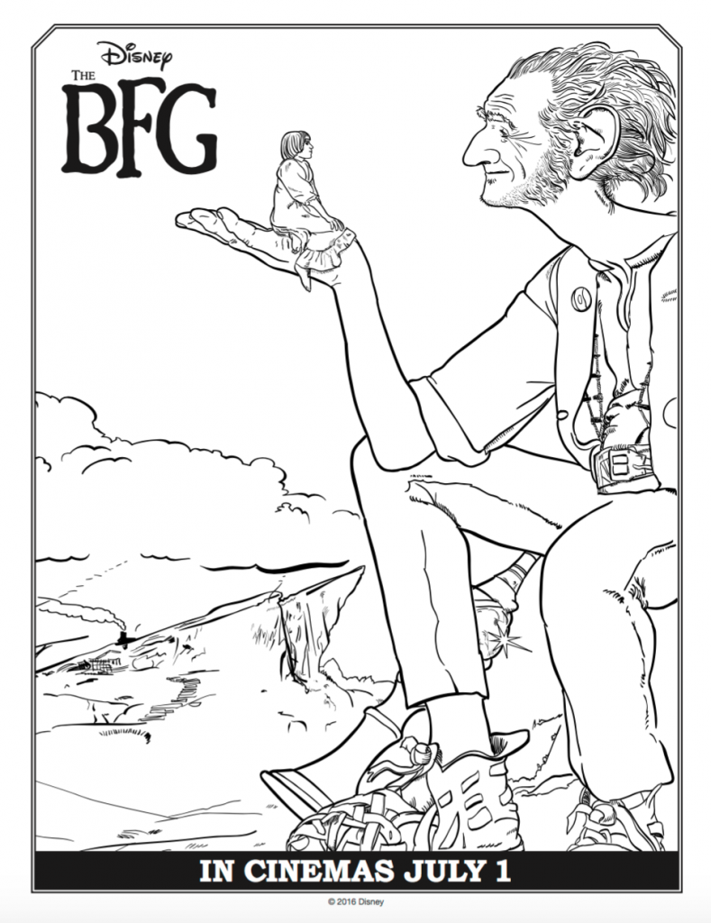 Colouring pages james and the giant peach - Disney S The Bfg Coloring Sheets Thebfg
