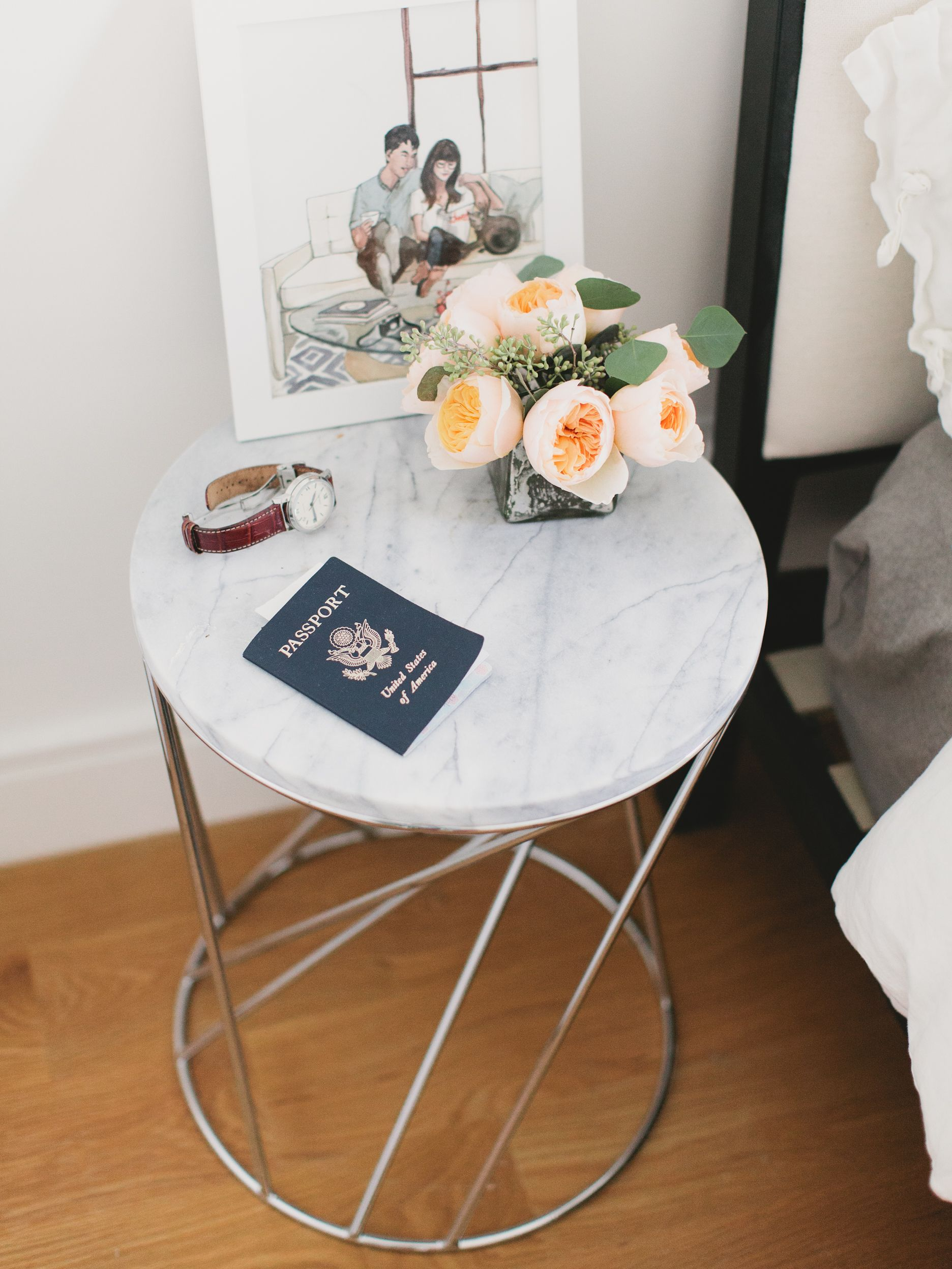 Alice Gao Rue Marble Side Tables Bedside Table Round