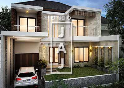 Desain Rumah 2 Lantai Luas Bangunan 200m2 Style Bali Modern Bp