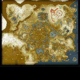 Interactive map of Hyrule from The Legend of Zelda Breath of the