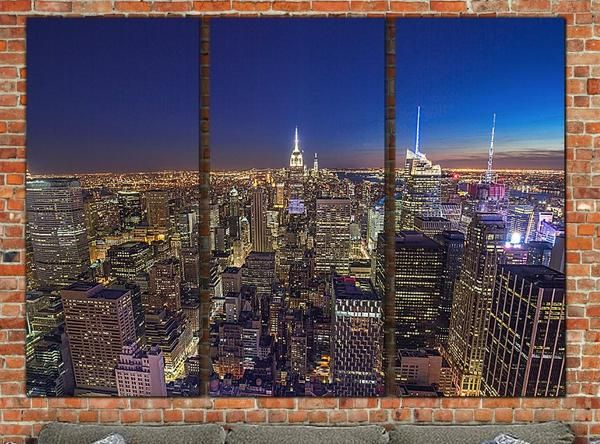 New York Skyline Canvas Art, Large Wall Art Canvas, New York Skyline, New York City, New York Art, New York Print, Large Canvas, Big Canvas - Canvas Wall Art - HolyCowCanvas