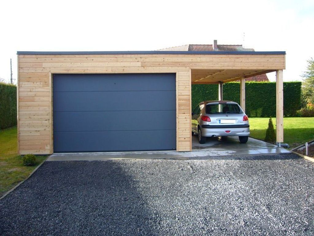 20 Cute Home Garage Design Ideas For Your Minimalist Home Garage Design Garage Exterior Carport Garage