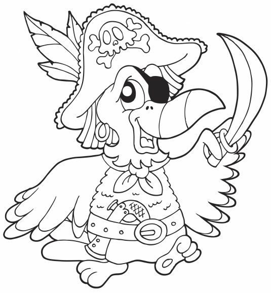 Coloriage perroquet pirate my blog - Perroquet a imprimer ...