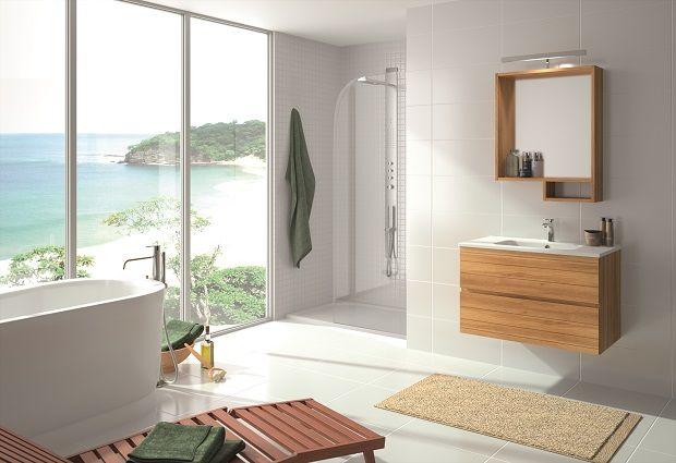 Collin Arredo - Meuble de salle de bain - Lagon L80 - Finition Teck