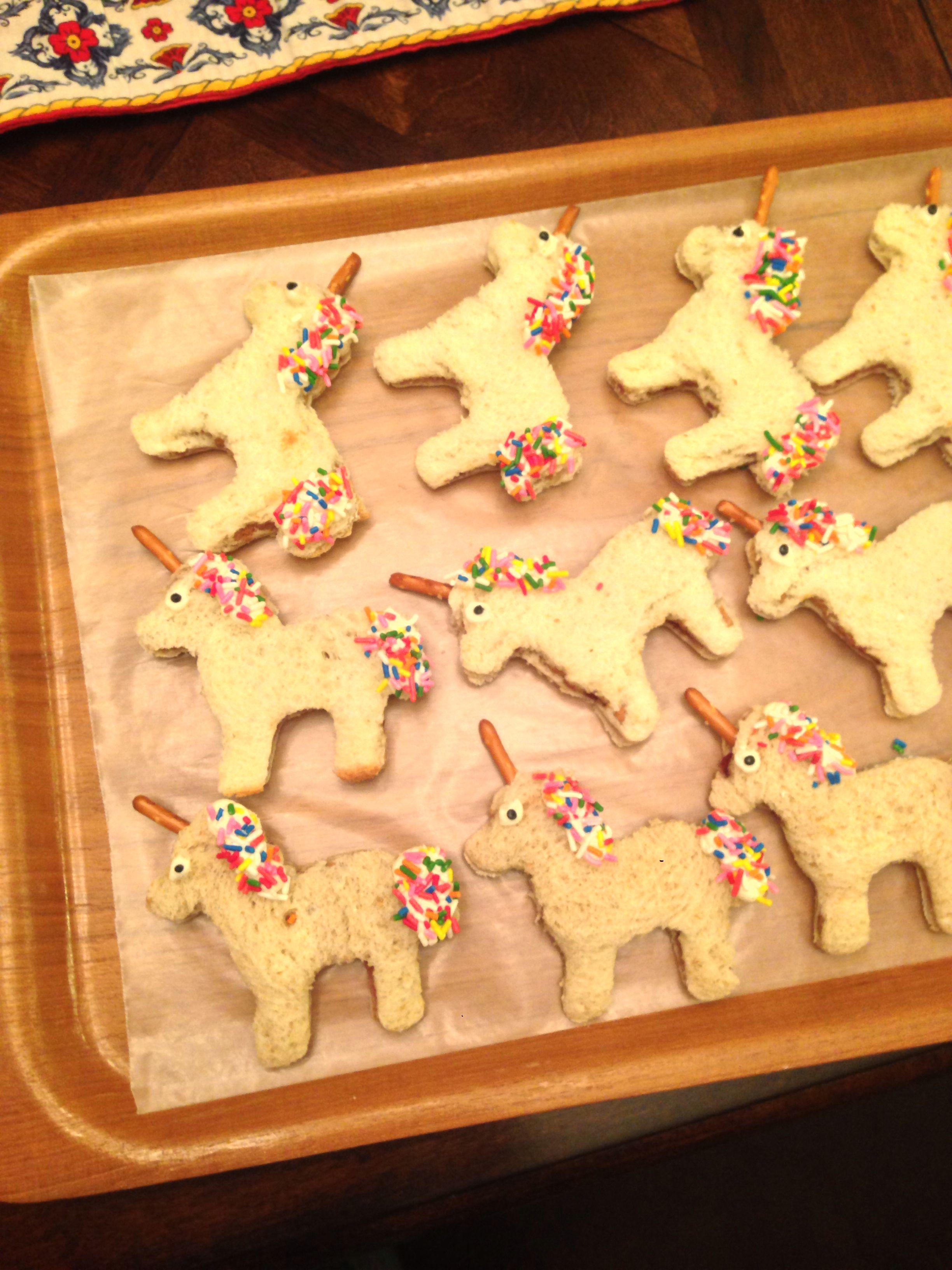 Unicorn sandwich snack for preschool letter U week | Photos Of Various Projects | Pinterest ...