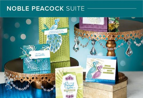 Stamping Society August Blog Hop - Noble Peacock #onlineclasses