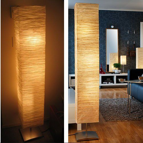 Rice Paper Shade Asian Floor Mood Lamp