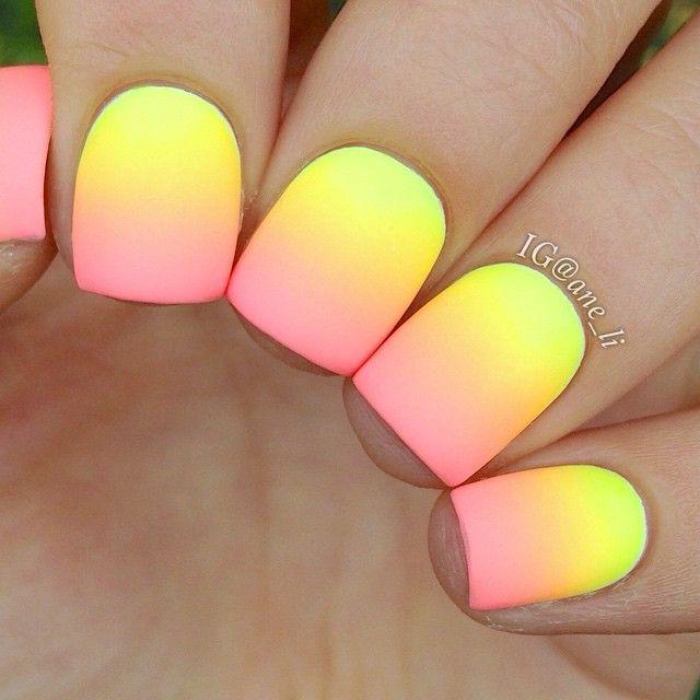 16 Super Cool Ombre Gradient Nail Art Tutorials: Neon Gradient Nails ♥