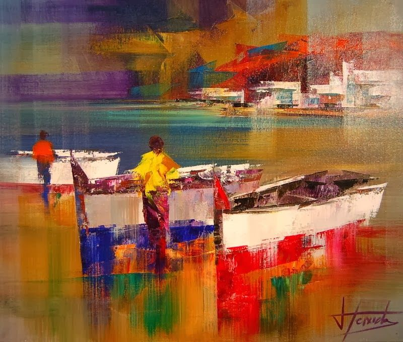 Beautiful Abstract Palette Knife Paintings By Josep Teixido Tableau Peinture Abstrait Abstrait Paysages Abstraits