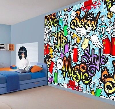 Cool kids graffiti music style hip hop school wallpaper wall mural   29971665. Cool kids graffiti music style hip hop school wallpaper wall mural